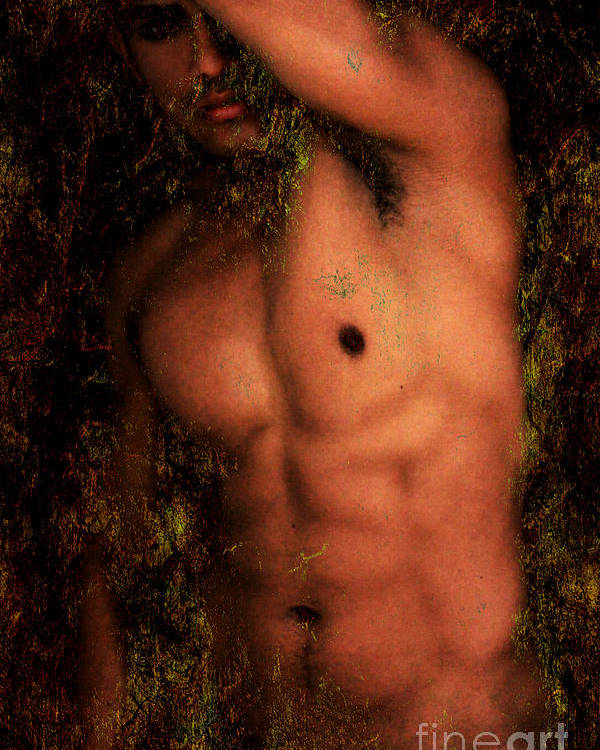 Male Nude Art Poster featuring the photograph Old Story 1 by Mark Ashkenazi