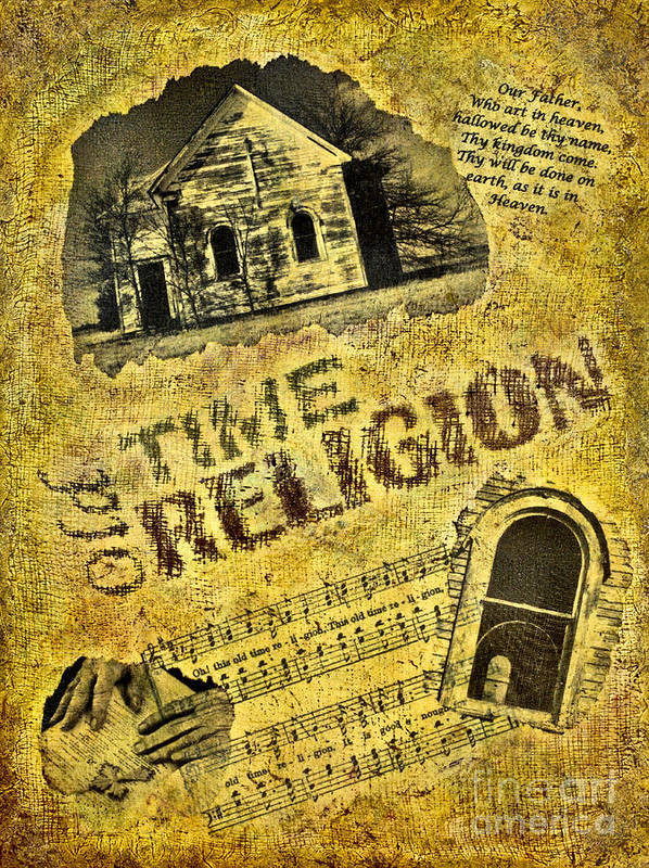 Mixed Media Poster featuring the photograph Old Time Religion by Pattie Calfy