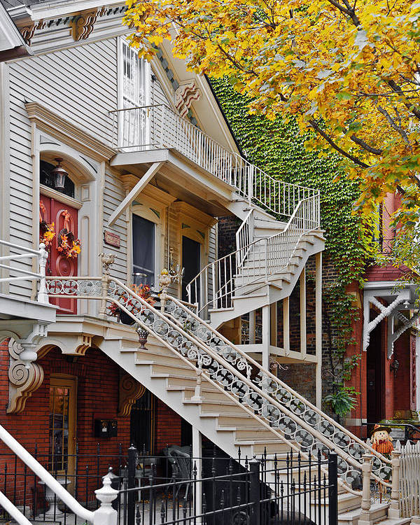 Chicago Poster featuring the photograph Old Town Chicago Living by Christine Till