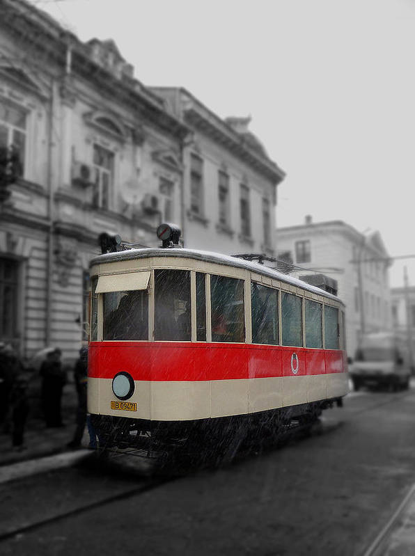 Tramway Poster featuring the photograph Old Tram by Sorin Ghencea