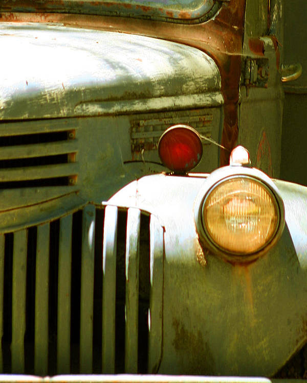 Car Poster featuring the photograph Old Truck Abstract by Ben and Raisa Gertsberg