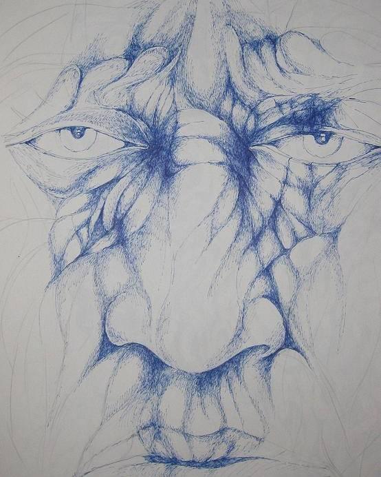 Oldman Poster featuring the drawing Oldman by Moshfegh Rakhsha