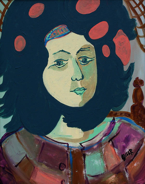 Art Poster featuring the painting Olga by Oscar Penalber