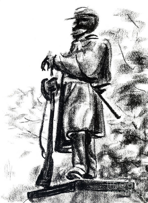 On Duty In Brigadoon No Ch101 Poster featuring the drawing On Duty In Brigadoon No Ch101 by Kip DeVore