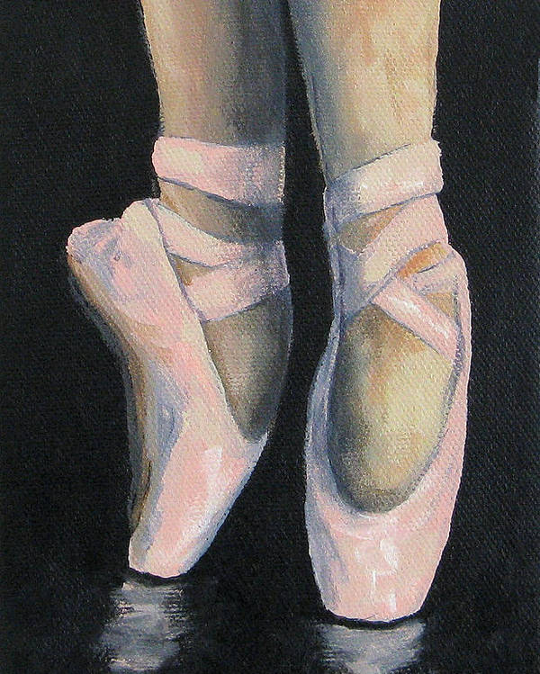 Ballet Poster featuring the painting On Point IV by Torrie Smiley