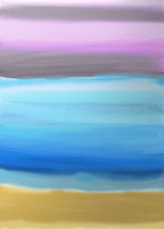 Abstract Poster featuring the painting On the Beach by Eliza Donovan