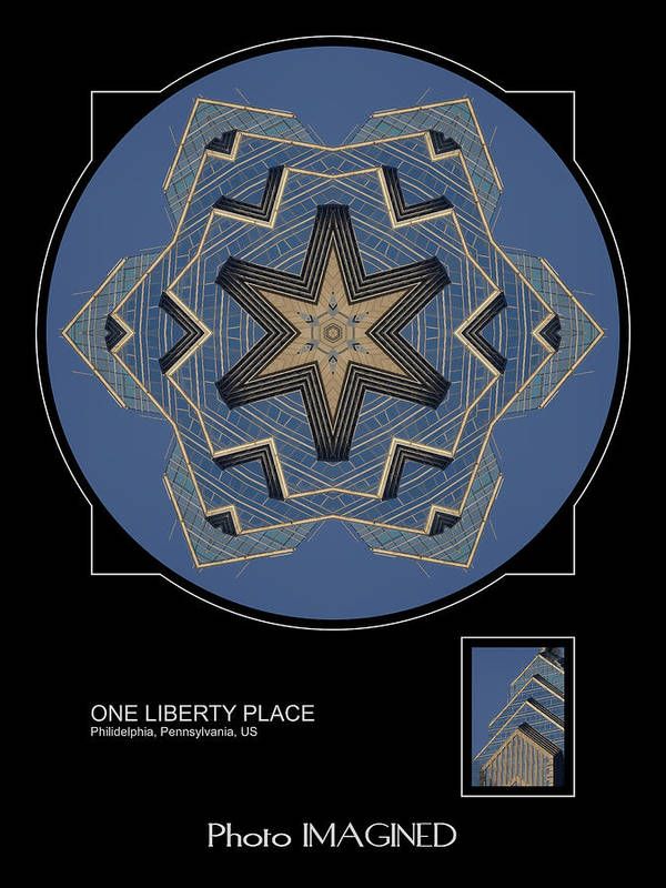 Kaleidoscope Poster featuring the digital art One Liberty Place by Mike Johnson