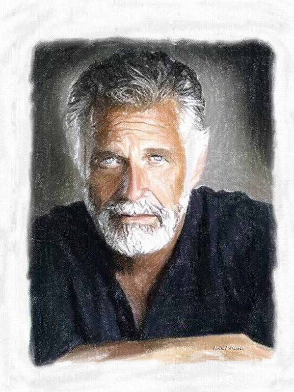 One Of The Most Interesting Man In The World Poster featuring the painting One Of The Most Interesting Man In The World by Angela A Stanton