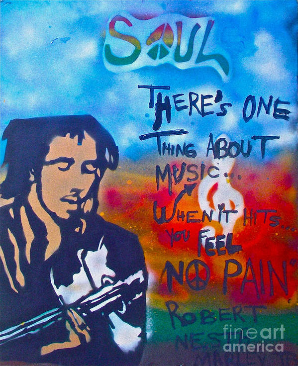 Hip Hop Poster featuring the painting One Thing About Music by Tony B Conscious