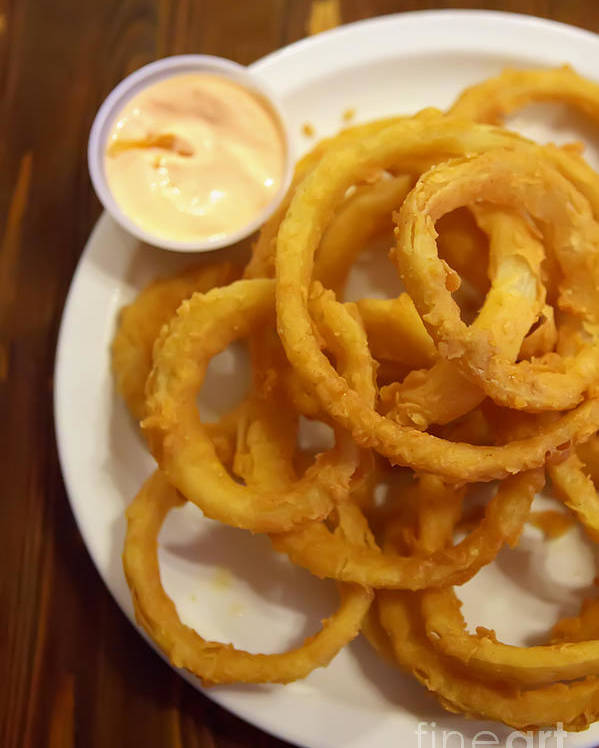 Onion Rings Poster featuring the photograph Onion Rings by Kay Pickens