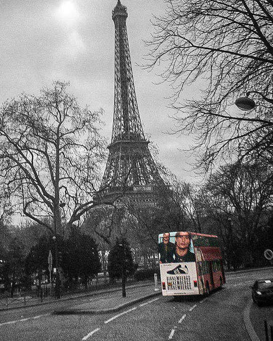 Paris Poster featuring the photograph Only In Color by Steven Taylor
