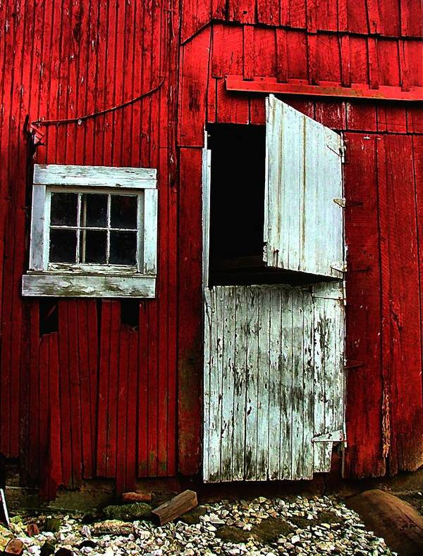 Barns Poster featuring the photograph Open Barn Door by Julie Dant