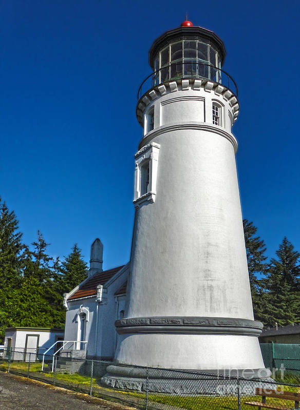 Oregon Coast Poster featuring the photograph Oregon Coast - Light House by Gregory Dyer