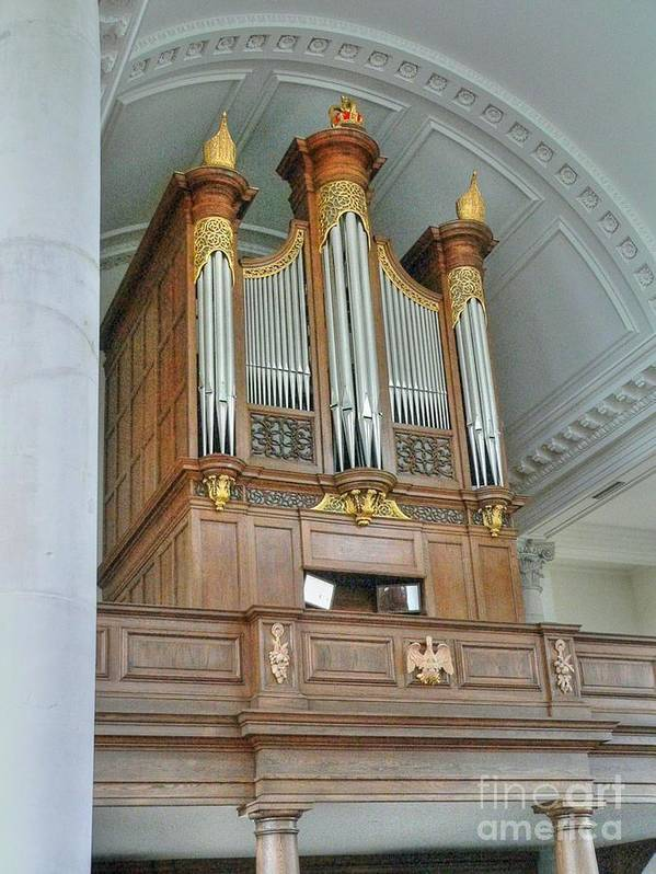 Saint Mary Of Aldermanbury Poster featuring the photograph Organ At Westminster by David Bearden