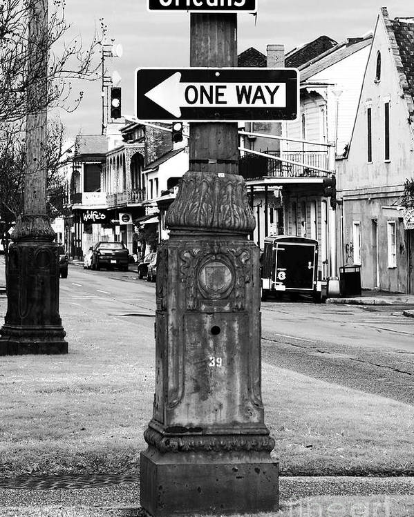 Orleans One Way Poster featuring the photograph Orleans One Way by John Rizzuto