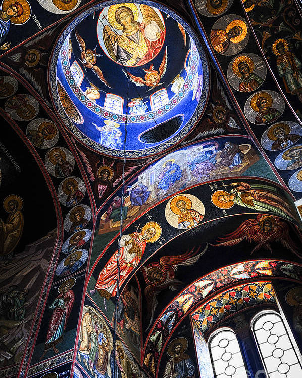 Mosaic Poster featuring the photograph Orthodox Church Interior by Elena Elisseeva