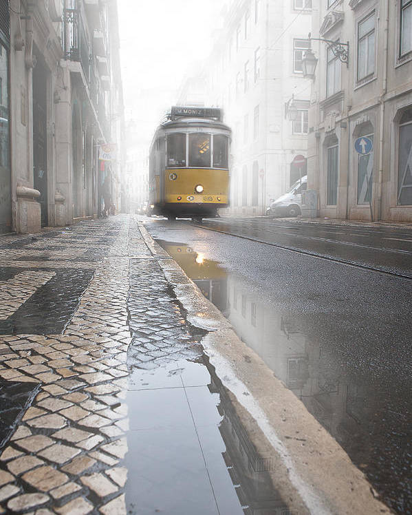 Lisbon Poster featuring the photograph Out Of The Haze by Jorge Maia