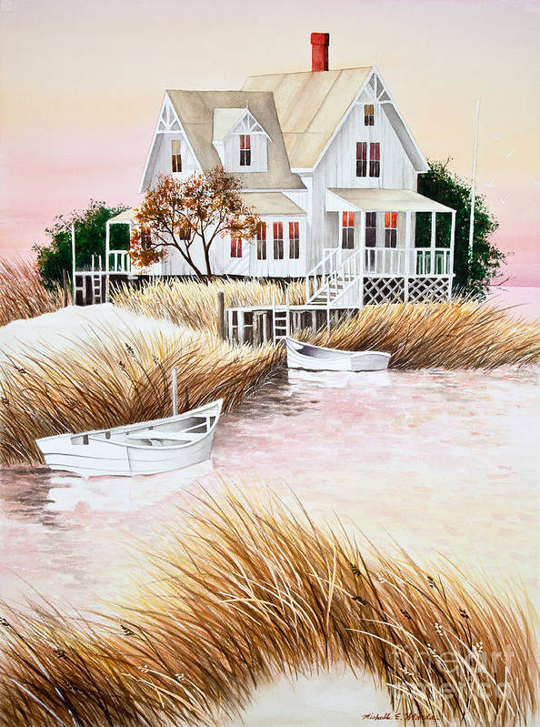 Summer Poster featuring the painting Outer Banks Summer Morning by Michelle Wiarda