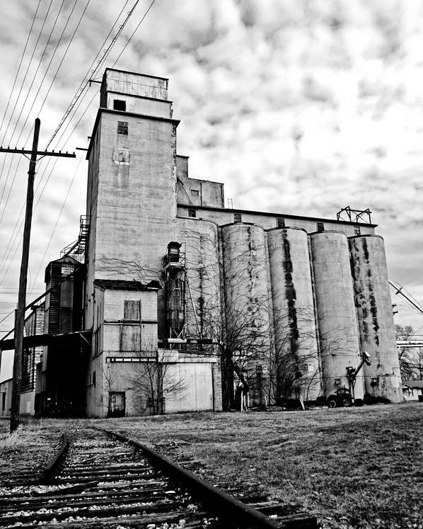 Silos Poster featuring the photograph Outskirts Of Town by Off The Beaten Path Photography - Andrew Alexander