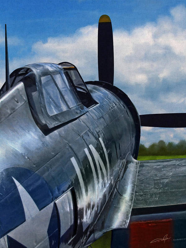 P-47 Thunderbolt Poster featuring the digital art P-47 Thunderbolt by Dale Jackson