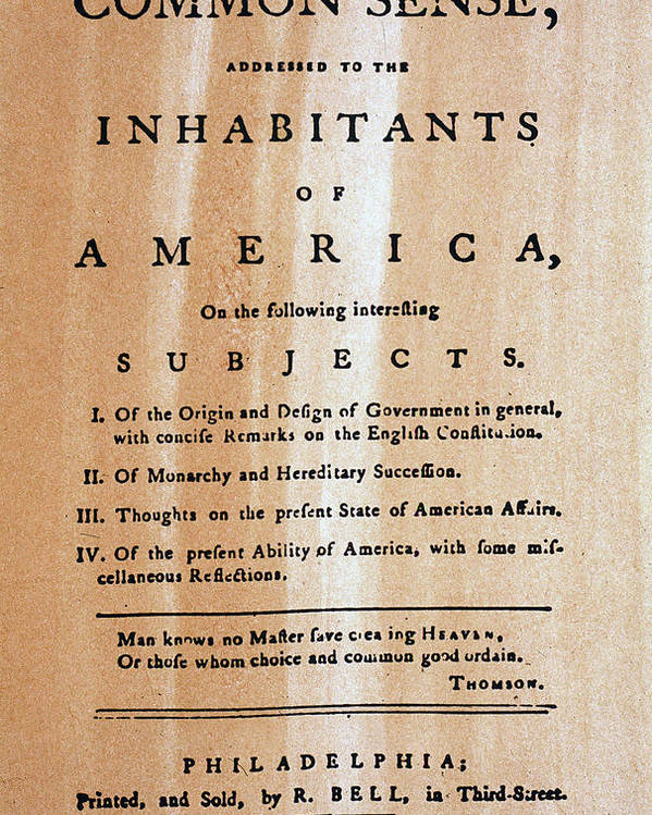 1776 Poster featuring the photograph Paine: Common Sense, 1776 by Granger