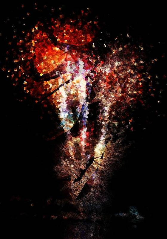 Painted Poster featuring the digital art Painted Fireworks by Andrea Barbieri