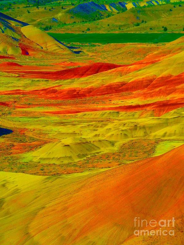 Newel Hunter Poster featuring the photograph Painted Hills 2 by Newel Hunter