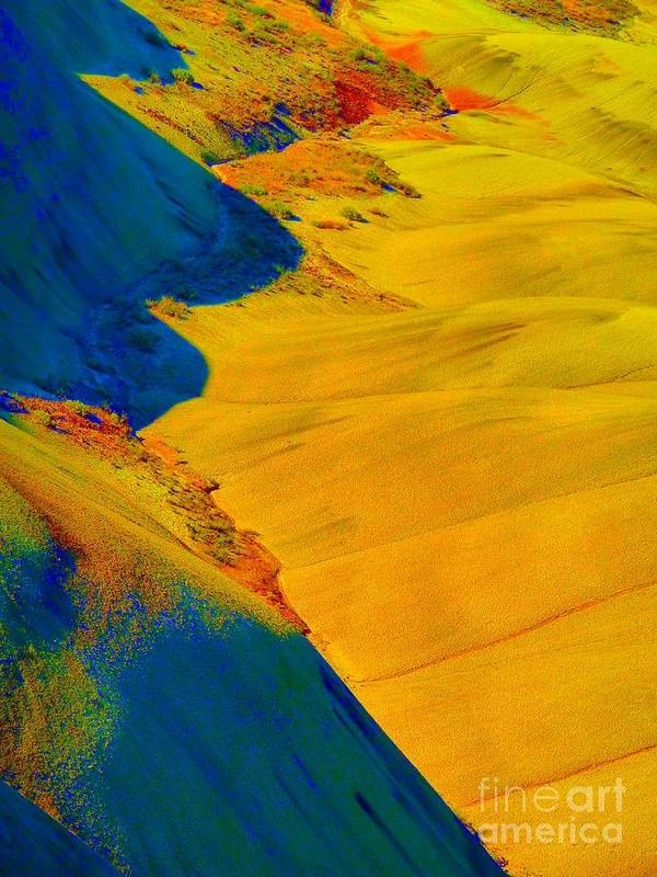 Newel Hunter Poster featuring the photograph Painted Hills 3 by Newel Hunter