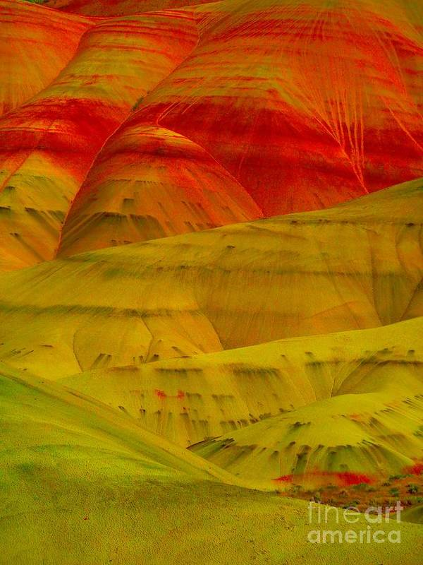 Newel Hunter Poster featuring the photograph Painted Hills 9 by Newel Hunter
