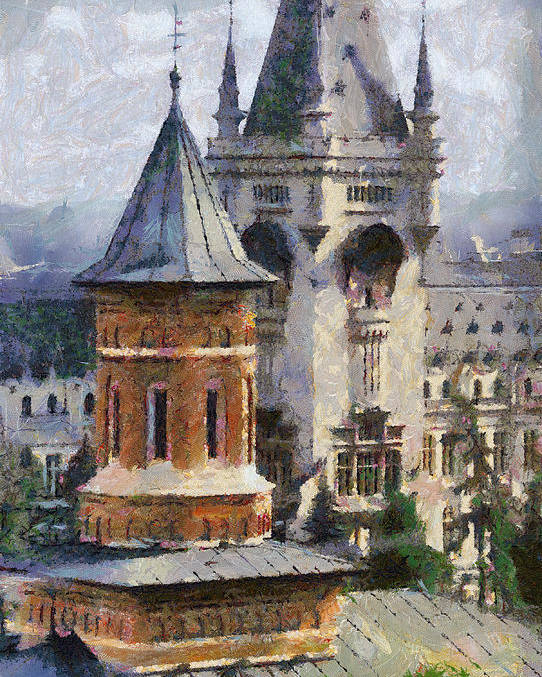 Chapel Poster featuring the painting Palace Of Culture by Jeffrey Kolker