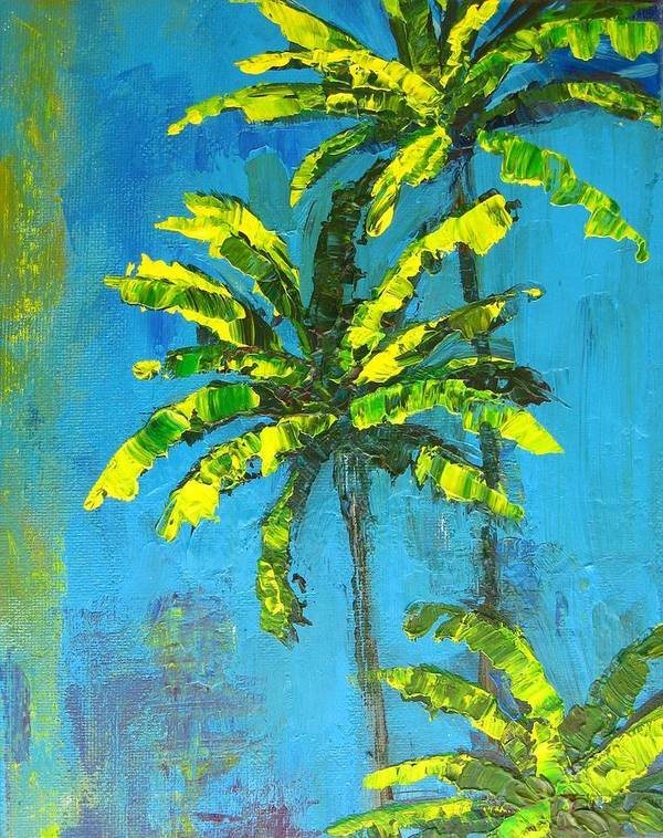 Art Poster featuring the painting Palm Trees by Patricia Awapara