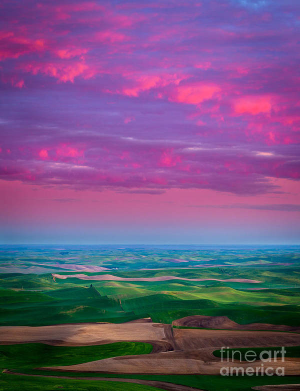 America Poster featuring the photograph Palouse Fiery Dawn by Inge Johnsson