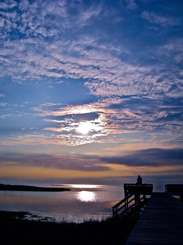 Water Poster featuring the photograph Pamlico Sound Sunset by Carol Rauss