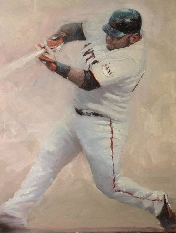 Pablo Sandoval Poster featuring the painting Panda Homer #1 by Darren Kerr