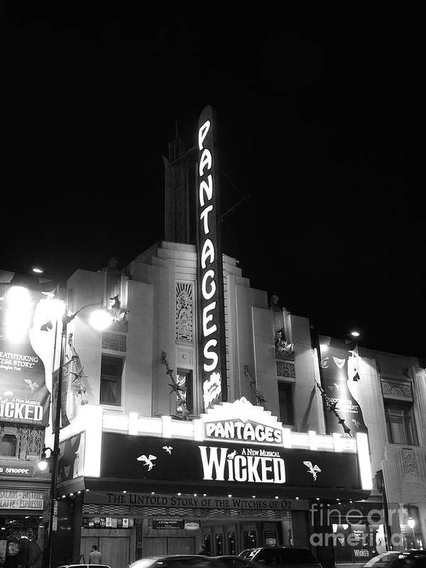 Pantages Poster featuring the photograph Pantages Theatre by David Doucot