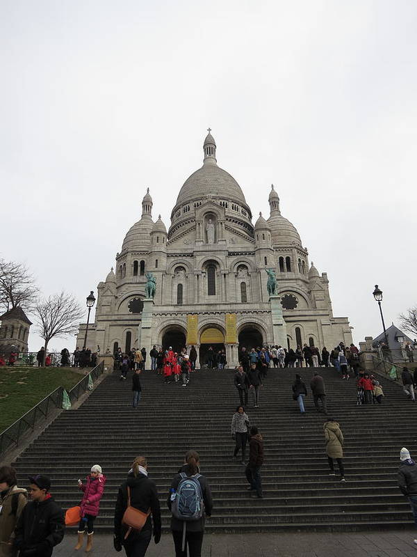 Paris Poster featuring the photograph Paris France - Basilica Of The Sacred Heart - Sacre Coeur - 12125 by DC Photographer