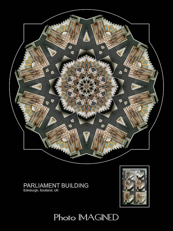 Kaleidoscope Poster featuring the digital art Parliament Building by Mike Johnson