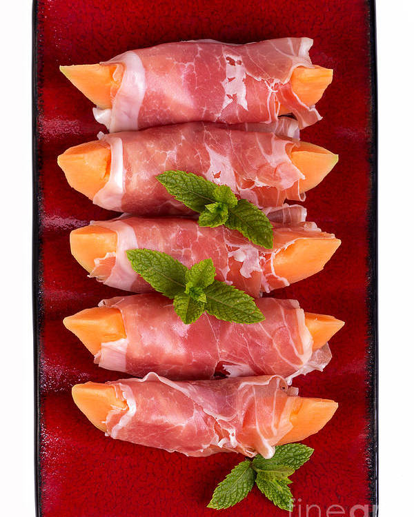 Melon Poster featuring the photograph Parma Ham And Melon by Jane Rix