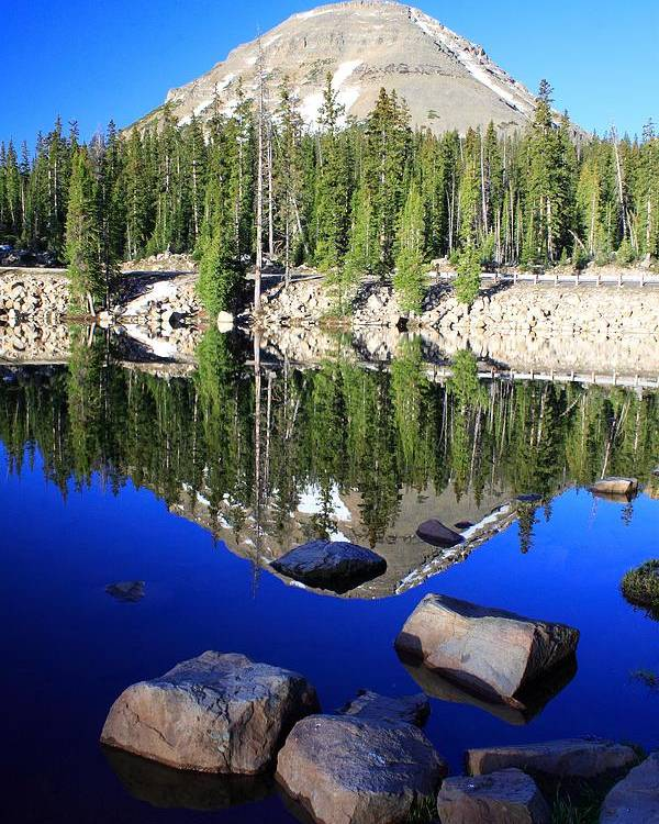 Lake Poster featuring the photograph Pass Lake by Gene Praag