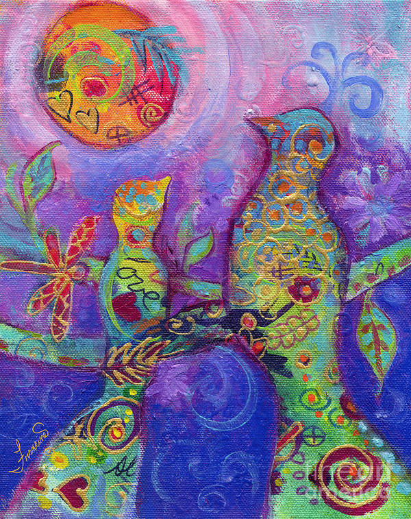 Acrylic Poster featuring the mixed media Pass the Wisdom Please by Francine Dufour Jones