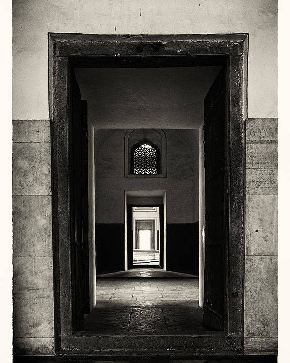 Humayun's Tomb Poster featuring the photograph Passages by Scott Wyatt