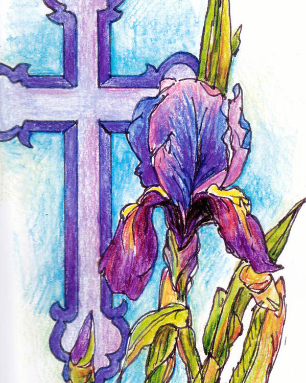 Religion Poster featuring the painting Passionate Purple by Lynda Dorris