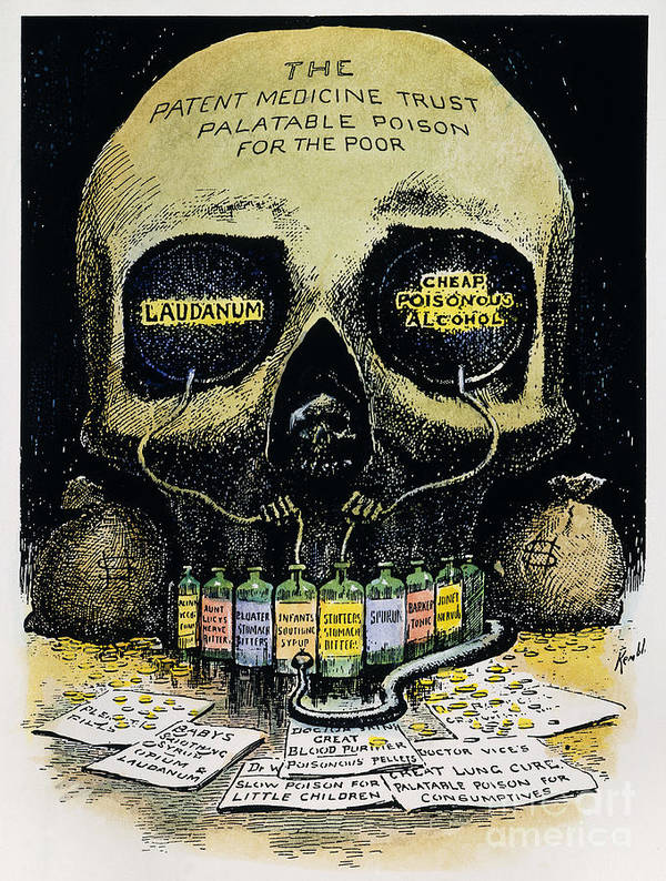 1906 Poster featuring the photograph Patent Medicine Cartoon by Granger