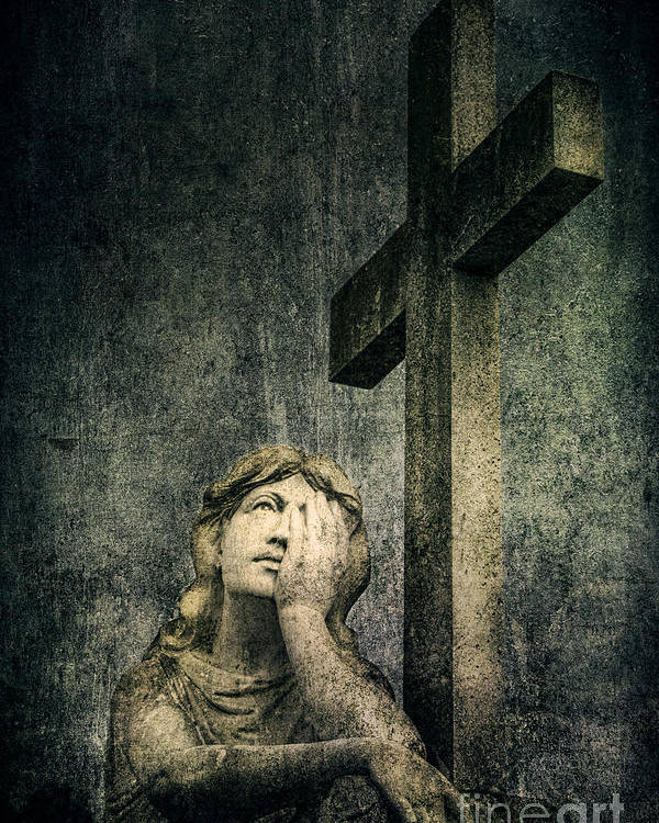 Cemetery Poster featuring the photograph Patience In Pain by Andrew Paranavitana
