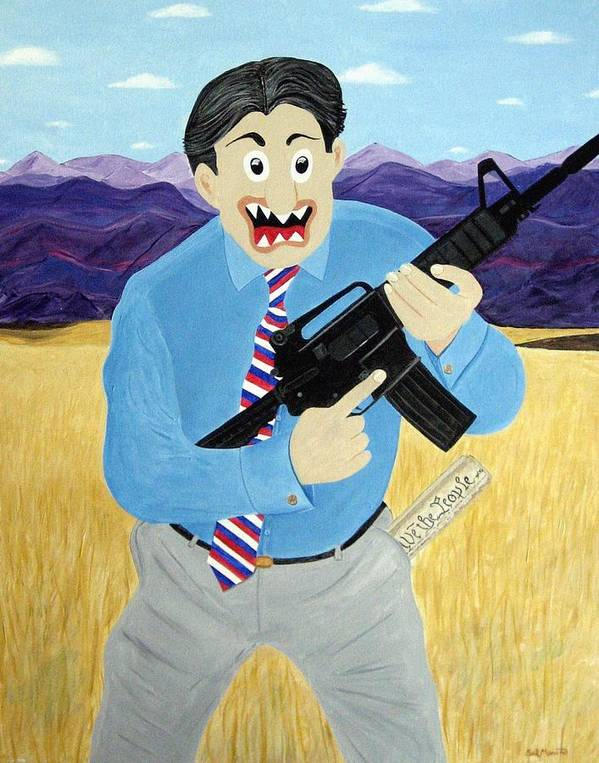 Patriot Poster featuring the painting Patriot by Sal Marino