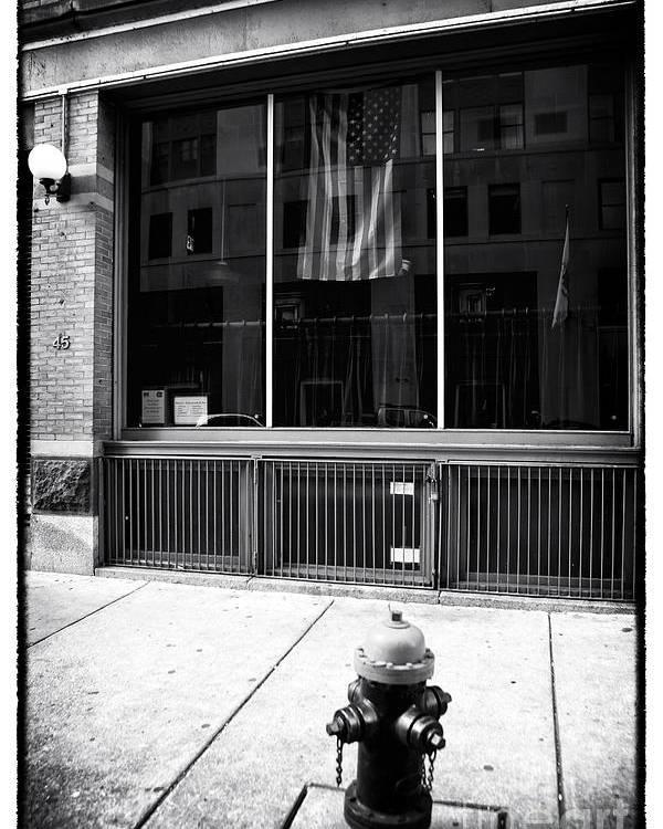 Patriotic Boston Poster featuring the photograph Patriotic Boston by John Rizzuto