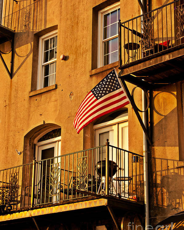 American Flag Poster featuring the photograph Patriotic by Southern Photo