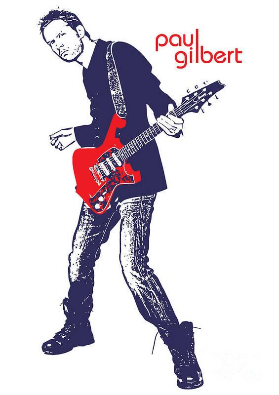 Paul Gilbert Poster featuring the digital art Paul Gilbert No.01 by Caio Caldas