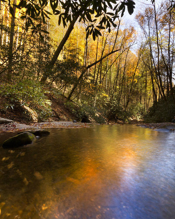Appalachia Poster featuring the photograph Peace Like A River by Debra and Dave Vanderlaan