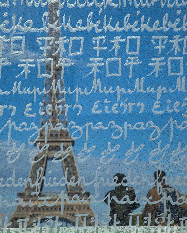 Eiffel Poster featuring the photograph Peace Memorial Paris by Brian Jannsen